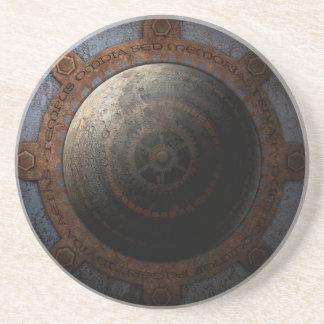 Vitesses en métal de temps d'horloge de lune de dessous de verre