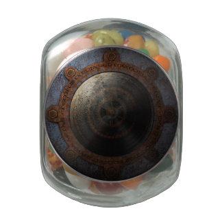 Vitesses en métal de temps d'horloge de lune de pots de bonbons jelly belly