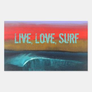 Vivant, aimez, surfez les autocollants par art