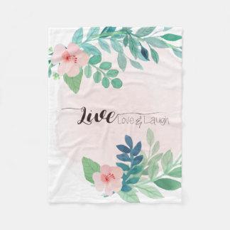 Vivant, amour, couverture florale d'ouatine de
