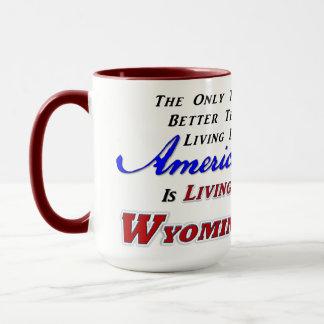 Vivant dans WY, tasse combinée de 15 onces