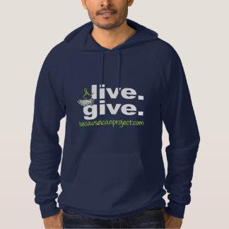 vivant. donnez. sweat - shirt à capuche (foncé)