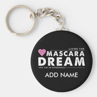 Vivant le porte - clé de rêve de mascara porte-clé rond
