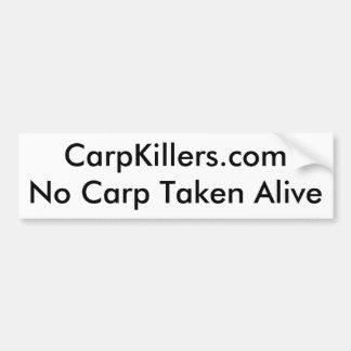Vivant pris par carpe de CarpKillers.comNo Autocollant De Voiture