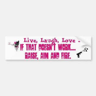 Vivant, rire, amour… Augmenter, but, le feu Bumper Autocollant Pour Voiture
