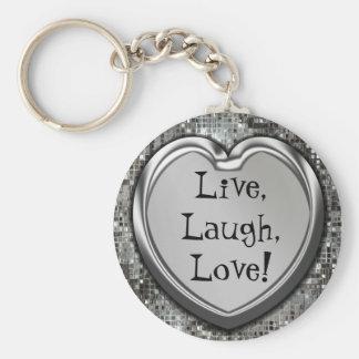 Vivant, rire, amour ! Porte - clé Porte-clé Rond