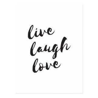 Vivant, rire, carte postale d'amour