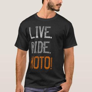 Vivant. Tour. Moto ! (cru) T-shirt