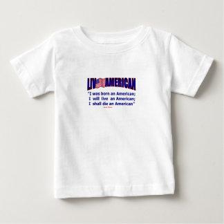 Vivants soutenus américains vivants meurent D. T-shirt Pour Bébé