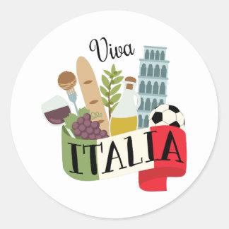Vivats Italie Sticker Rond