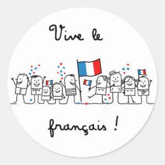 ViveLeFrancais Sticker Rond
