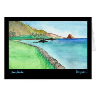Vivent Aloha la carte de voeux, peinture de Maui