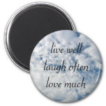 vivent bien l'amour de rire souvent beaucoup magnets