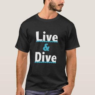 """""""Vivent et plongent"""" le T-shirt de plongée"""