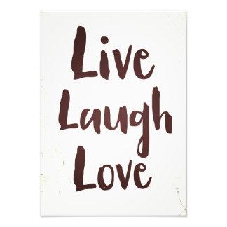 Vivent la citation inspirée vintage d'amour de  tirage photo