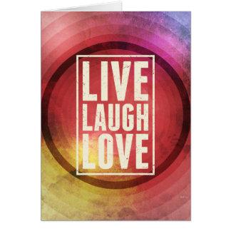 Vivent l'amour de rire carte