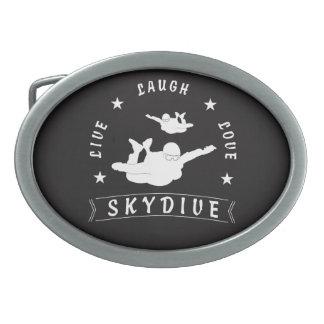Vivent l'amour Skydive. de rire Boucle De Ceinture Ovale