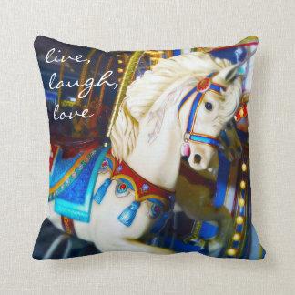 """""""Vivent"""" le carreau coloré de photo de cheval de Coussin"""