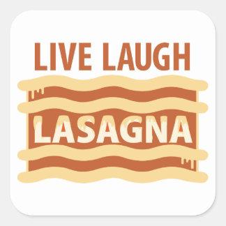 Vivent le lasagne de rire sticker carré