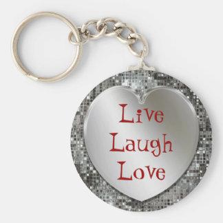 Vivent le porte - clé d'amour de rire porte-clé rond