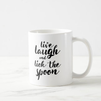 Vivent le rire et lèchent la cuillère mug