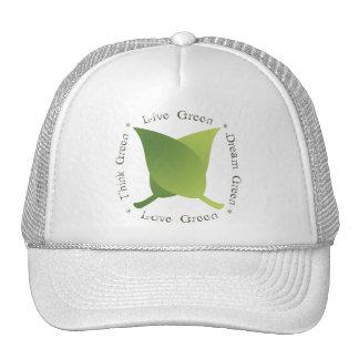 Vivent le vert, aiment le vert, pensent le vert, v casquette