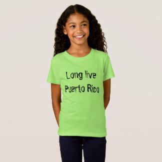 Vivent longtemps Porto Rico en manuscrit de T-Shirt