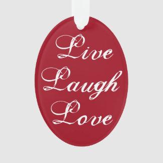 Vivent l'ornement d'amour de rire