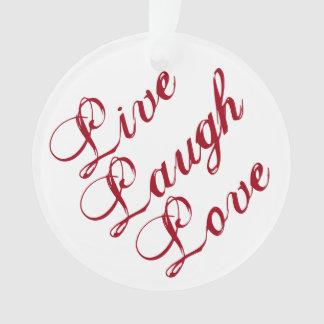Vivent l'ornement d'amour de rire avec le support