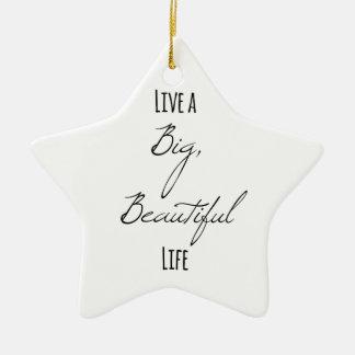 Vivent une grande, belle vie ornement étoile en céramique