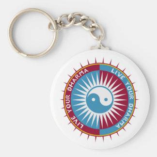 Vivent votre Dharma Porte-clé Rond