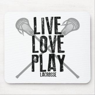 Vivez, aimez, jouez à la lacrosse tapis de souris