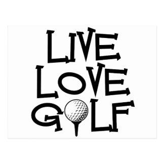Vivez, aimez, jouez au golf cartes postales