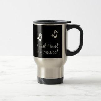 Vivez dans le musical mug de voyage