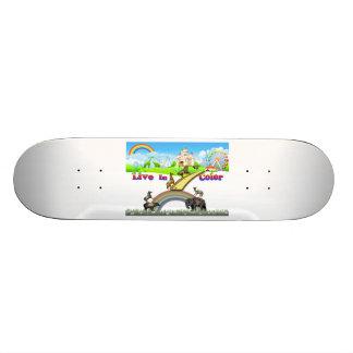 Vivez dans le travail vintage d'équipe d'animaux skateboards cutomisables