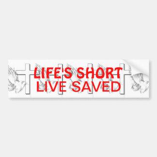 Vivez économisé autocollant de voiture