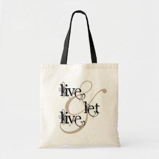 vivez et laissez le live_full sacs de toile