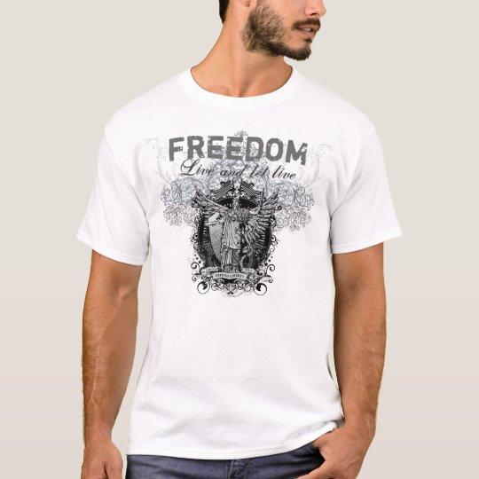 Vivez et laissez le T-shirt vivant de graphique de