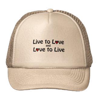 Vivez pour aimer casquettes de camionneur