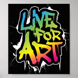 Vivez pour l'affiche d'art posters