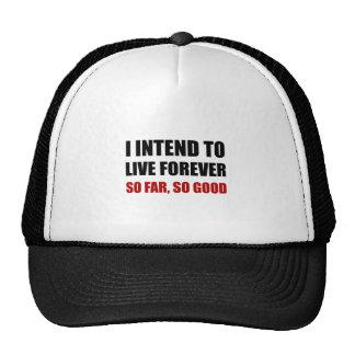 Vivez pour toujours jusqu'ici bon casquettes de camionneur