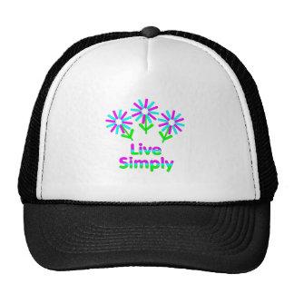 Vivez simplement casquette