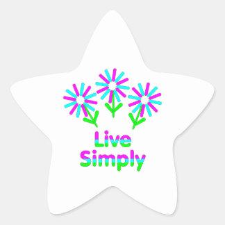 Vivez simplement sticker étoile