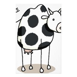 Vivi vaca motifs pour papier à lettre