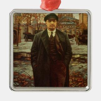 Vladimir Ilyich Lénine chez Smolny, c.1925 Ornement Carré Argenté