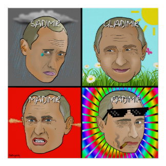 Vladimir Poutine émotif Posters