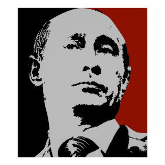 Vladimir Poutine rouge Posters