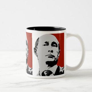 Vladimir Poutine sur le rouge Mug Bicolore
