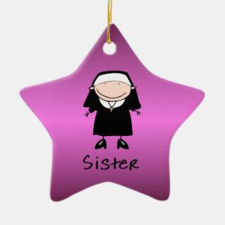 Vocation religieuse de nonne de profession ornement étoile en céramique