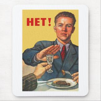 Vodka soviétique de Het de propagande de rétro Tapis De Souris